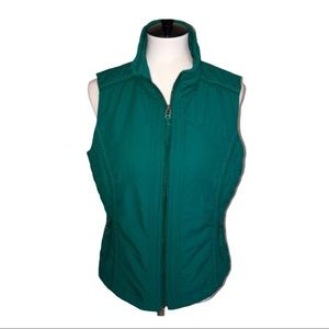 Coldwater Creek Quilted Zippered Vest Size Medium